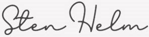 Signatur av VD Sten Helm
